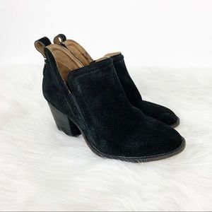 Jeffrey Campbell Black Suede Ankle Booties Sz 5.5